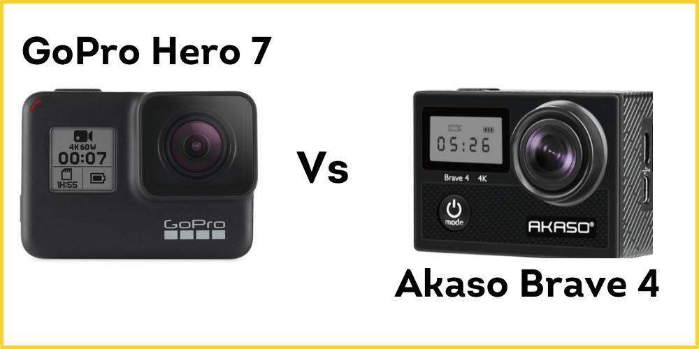 Akaso Brave 4 Vs GoPro Hero 7
